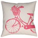 Surya Bicycle Pillow - Item Number: LIL015-1818
