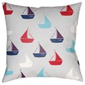 Surya Boats Pillow - Item Number: LIL016-1818