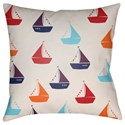 Surya Boats Pillow - Item Number: LIL017-1818