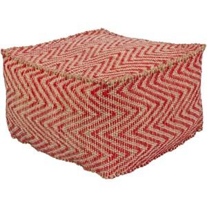 Surya Bodega 20 x 20 x 12 Cube Pouf