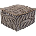 Surya Bodega 20 x 20 x 12 Cube Pouf - Item Number: BDPF5001-202012