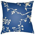 Surya Chinoiserie Floral Pillow - Item Number: CF007-2222