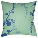 Surya Chinoiserie Floral Pillow - Item Number: CF015-2222
