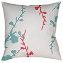 Surya Chinoiserie Floral Pillow - Item Number: CF017-2222