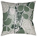 Surya Chinoiserie Floral Pillow - Item Number: CF021-2020
