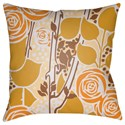 Surya Chinoiserie Floral Pillow - Item Number: CF024-1818