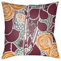 Surya Chinoiserie Floral Pillow - Item Number: CF025-2222