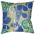 Surya Chinoiserie Floral Pillow - Item Number: CF026-2020