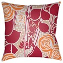 Surya Chinoiserie Floral Pillow - Item Number: CF027-2222