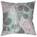 Surya Chinoiserie Floral Pillow - Item Number: CF028-1818