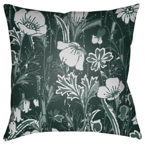 Surya Chinoiserie Floral Pillow