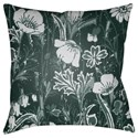 Surya Chinoiserie Floral Pillow - Item Number: CF031-2020
