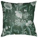Surya Chinoiserie Floral Pillow - Item Number: CF033-2222