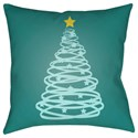 Surya Christmas Tree Pillow - Item Number: HDY116-1818