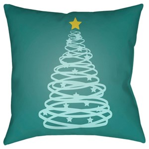 Surya Christmas Tree Pillow
