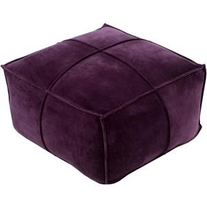 Surya Cotton Velvet 24 x 24 x 13 Cube Pouf