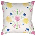 Surya Flores Burst Pillow - Item Number: WMAYO018-1818