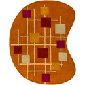 Surya Forum 8' x 10' Kidney Rug - Item Number: FM7202-810KDNY