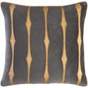 Surya Graphic Stripe Pillow - Item Number: GS004-2020D