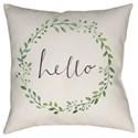 Surya Hello Pillow - Item Number: QTE018-2020