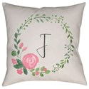 Surya Initials II Pillow - Item Number: INT036-1818