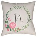 Surya Initials II Pillow - Item Number: INT040-1818