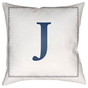 Surya Initials Pillow