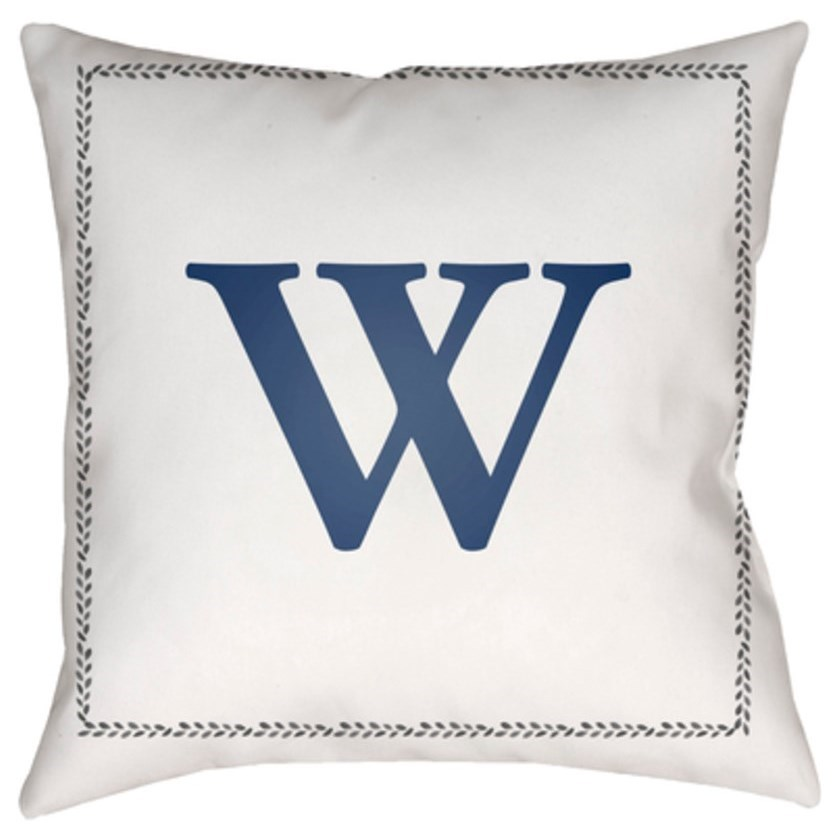 Surya Initials Pillow - Item Number: INT023-1818