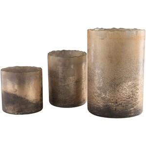 Metallic Candle Holder Set