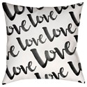 Surya Love Pillow - Item Number: HEART004-1818