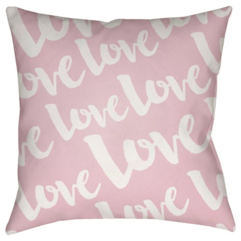 Surya Love Pillow - Item Number: HEART014-1818
