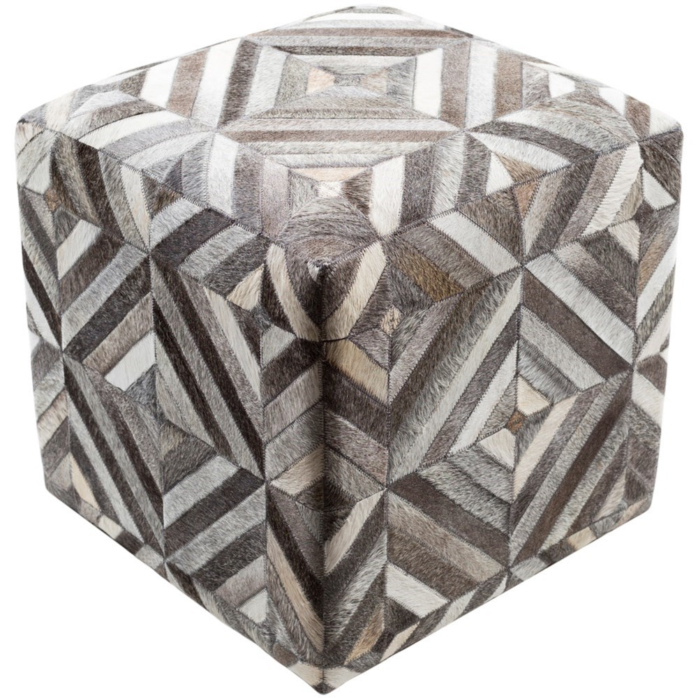 Surya Lycaon 18 x 18 x 18 Cube Pouf - Item Number: LCPF001-181818