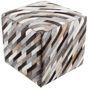 Surya Lycaon 18 x 18 x 18 Cube Pouf