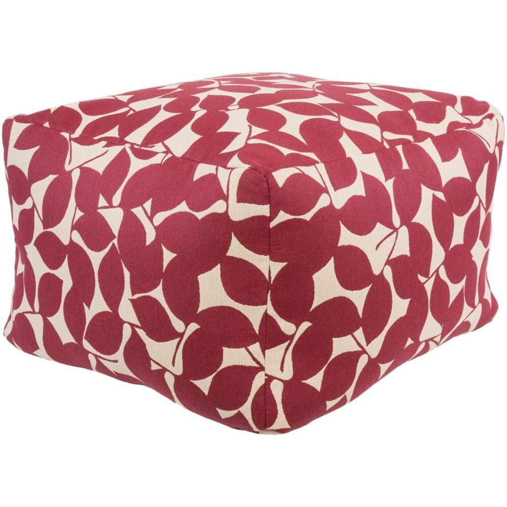 Surya Magnolia MGPF10-10 10 x 10 x 10 Cube Pouf  Del Sol