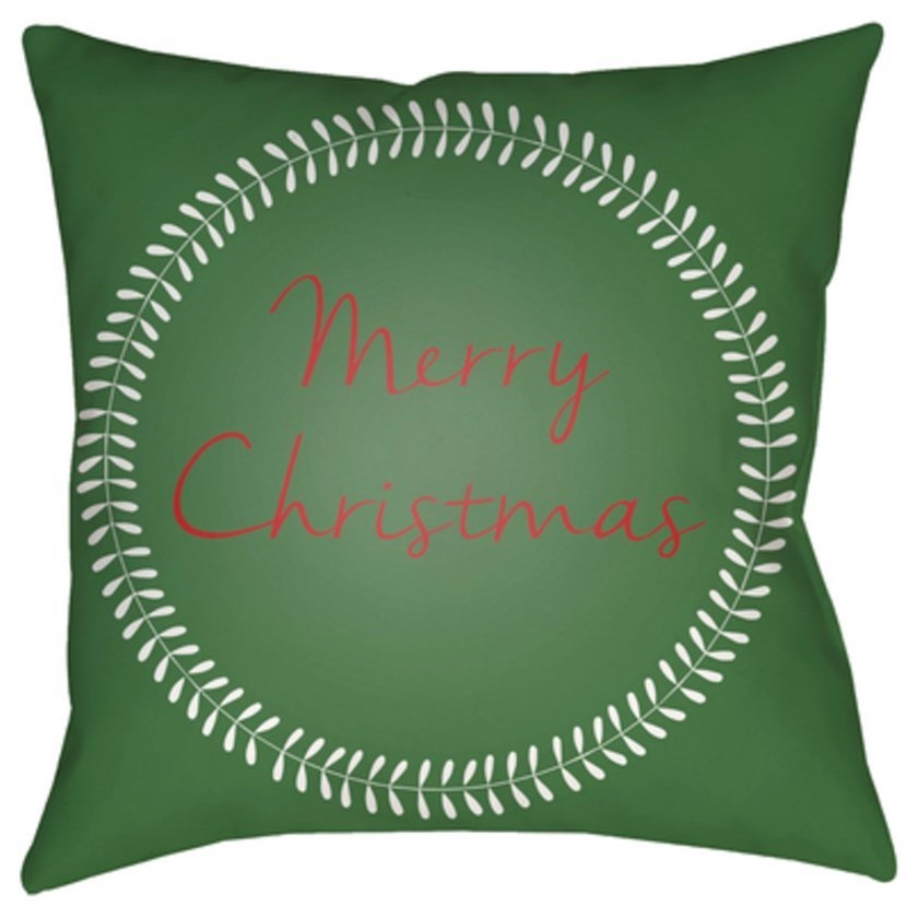 Surya Merry Christmas II Pillow - Item Number: HDY073-1818