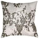 Surya Moody Damask Pillow - Item Number: DK022-1818
