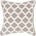 Surya Moroccan Printed Lattice Pillow - Item Number: MPL008-1818