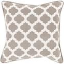 Surya Moroccan Printed Lattice Pillow - Item Number: MPL008-1818D