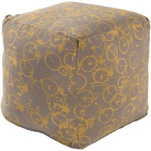 Surya Peddle Power 18 x 18 x 18 Cube Pouf