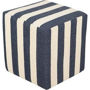 Surya Picnic 16 x 16 x 18 Cube Pouf