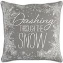 """Surya Pillows Grey Dashing through the Snow 18"""" - Item Number: SUR-255P"""