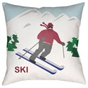 Surya Ski I Pillow - Item Number: SKI001-1818
