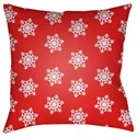 Surya Snowflakes Pillow - Item Number: HDY100-2020