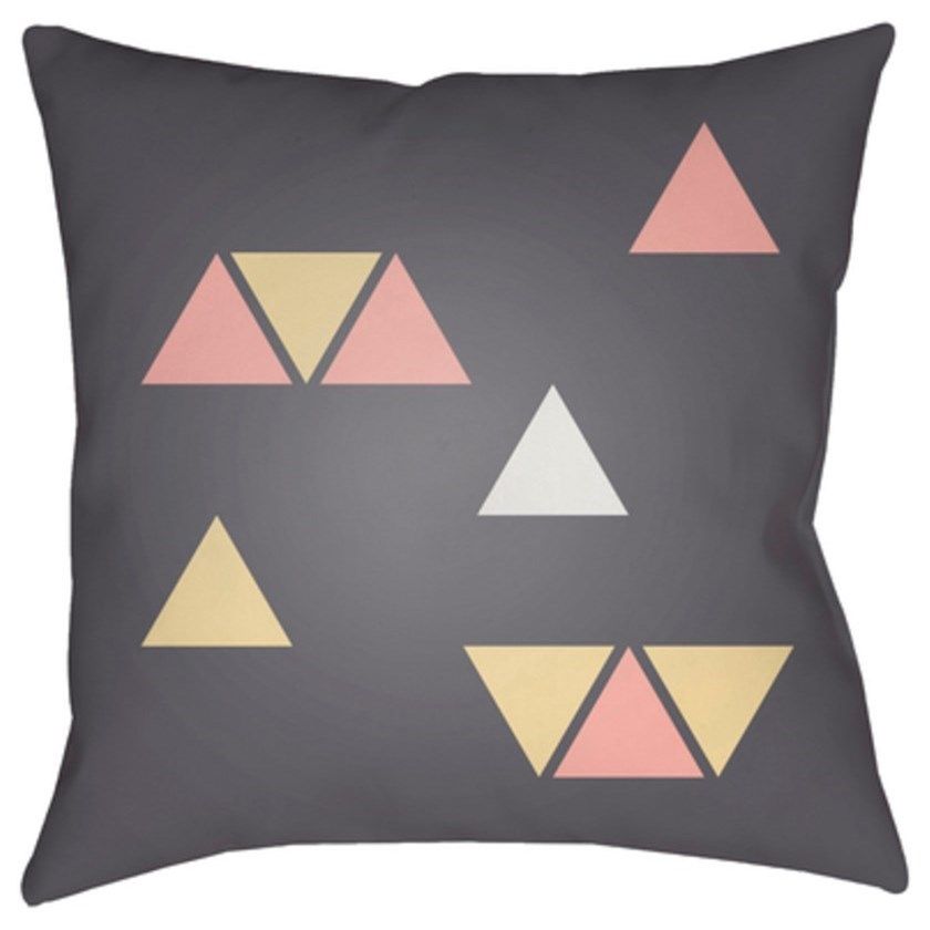 Surya Triangles Pillow - Item Number: WRAN012-1818