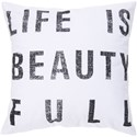 Surya Typography Pillow - Item Number: ST081-1818