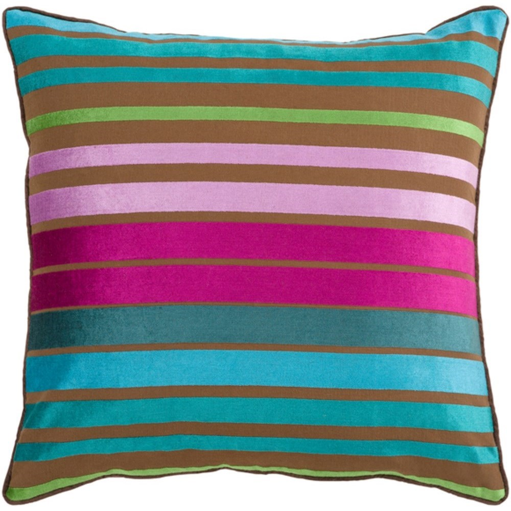 Surya Velvet Stripe Pillow - Item Number: JS019-2222D
