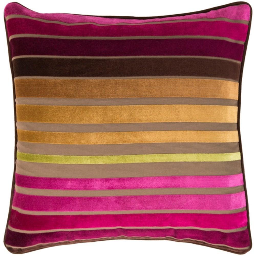 Surya Velvet Stripe Pillow - Item Number: JS020-2222