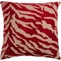 Surya Velvet Zebra Pillow - Item Number: JS026-2222D
