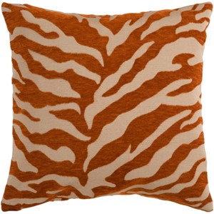 Surya Velvet Zebra Pillow