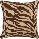 Surya Velvet Zebra Pillow - Item Number: JS033-1818D